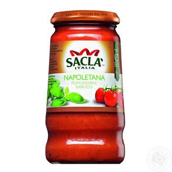 Соус Sacla Неаполитано с целыми томатами и базиликом 420г