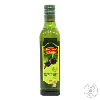 Oil Maestro de oliva olive extra virgin 500ml glass bottle - buy, prices for Novus - image 1