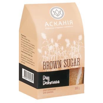 Цукор Асканія-Пак Dry Demerara коричневий 300г