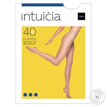 Колготи жіночі Intuicia Classic 40Den чорні розмір 3 - купити, ціни на МегаМаркет - фото 1