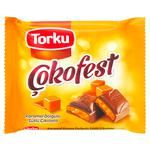 Шоколад Torku Cokofest молочний з карам.начин.60г