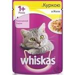 Корм для котов Whiskas с курицей в желе 100г