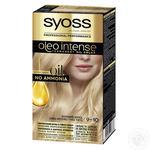 Краска для волос без аммиака SYOSS Oleo Intense 9-10 Яркий блонд 115мл