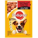 Корм Pedigree для собак з яловичиною та ягням 100г