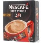 Beverage Nescafe with coffee instant 20pcs 16g stick sachet Ukraine