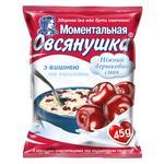 Oatmeal porridge Ovsyanushka with sugar cherries and cream quick-cooking 45g