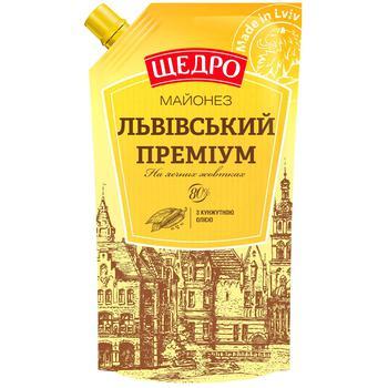 Майонез Щедро Львівський преміум 80% 350г