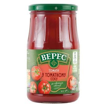 Томаты Верес в томатном соке 800г