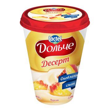 Десерт сирковий Дольче персик 3,4% 400г - купити, ціни на Ашан - фото 1