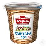 Sour cream Ferma 15% 350g