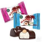 Конфеты Turron Малибу с цельным миндалем и кокосовой стружкой в глазури