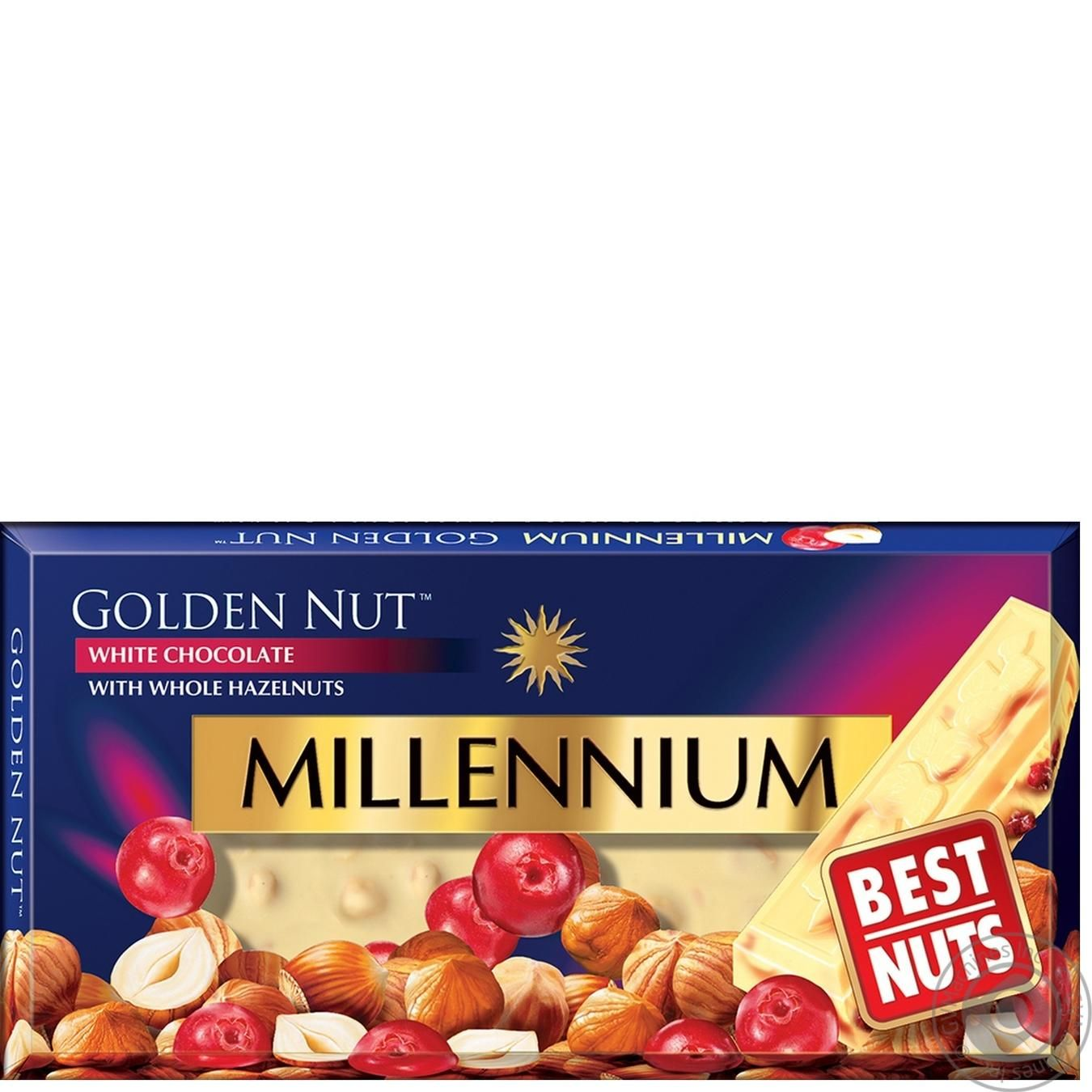 Millennium Gold Nuts And Cranberries White Chocolate Sweets