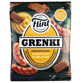 Гренки ржаные Флинт со вкусом баварских колбасок 70г