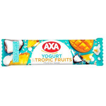 Батончик АХА злаковий зі смаком йогурту та з тропічними фруктами 25г - купити, ціни на ЕКО Маркет - фото 1
