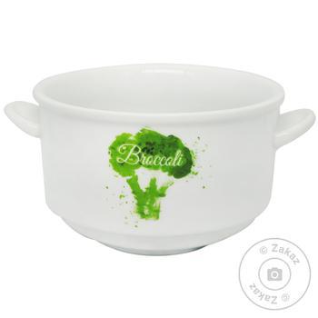 Чашка супова Keramia Брокколі 400мл - купити, ціни на МегаМаркет - фото 1