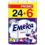 Туалетная бумага Emeka Paradise 3 слоя 24+6шт