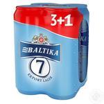 Пиво Балтика №7 жерстяна банка 4*0,5л