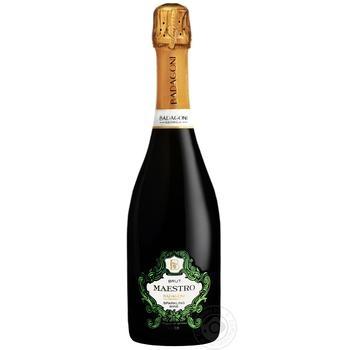 Вино игристое Badagoni Маэстро белое брют 0,75л - купить, цены на Novus - фото 1