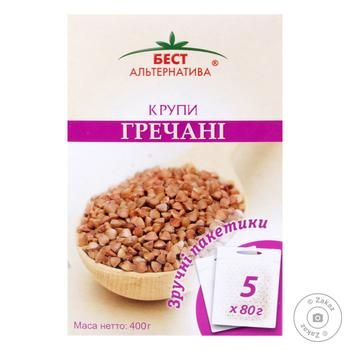 Best Alternative Buckwheat Groats in Bags 400g - buy, prices for MegaMarket - image 1