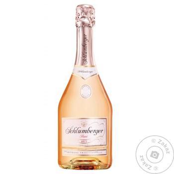 Вино игристое Schlumberger Rose Brut 11.5% 0.75л - купить, цены на Novus - фото 1