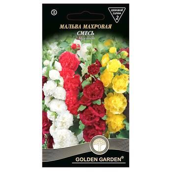 Семена Golden Garden Цветы Мальва махровая смесь 0,2г