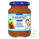 Puree Karapuz Apple with redcurrant juice with sugar for 4+ month old babies glass jar 200g Ukraine