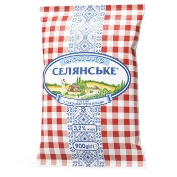 Молоко Селянське ультрапастеризованное 3.2% 900г - купить, цены на Восторг - фото 1