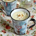 Сливочный напиток с белым шоколадом и орехами