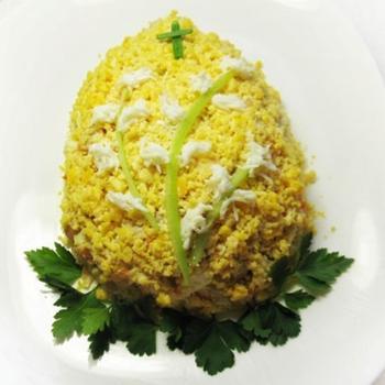 """Салат """"Великоднє яйце"""""""