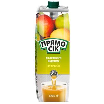 Сок Прямосок яблочный 1л - купить, цены на Ашан - фото 1