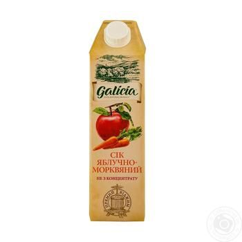 Сок Galicia яблочно-морковный с мякотью 1л - купить, цены на Метро - фото 1