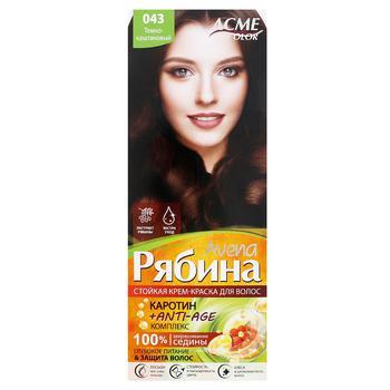 Краска для волос Acme Avena Рябина 043 Темно-каштановый