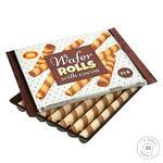 Трубучки вафельные Бисквит-Шоколад с какао 77г