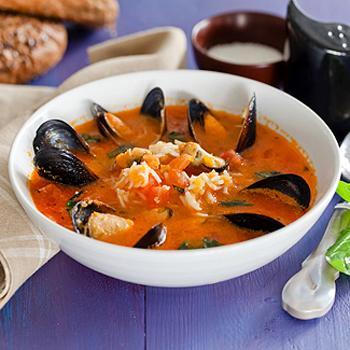 Рисовый суп с мидиями