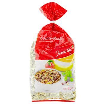 Мюсли Jeden Tag фруктовые 1кг - купить, цены на Фуршет - фото 1