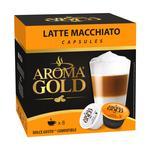 Кофе Aroma Gold Latte Macchiato Dolce Gusto молотый в капсулах для кофемашин 193,6г