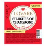 Чай черный и зеленый Lovare Брызги Шампанского 50шт*2г