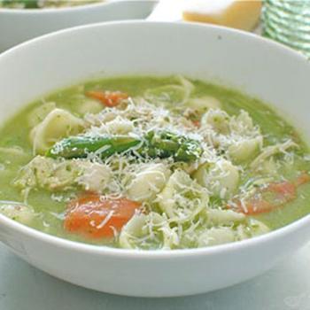 Итальянский суп со шпинатом