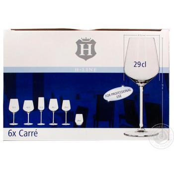 Бокалы H-Line Carre для белого вина 290мл 6шт - купить, цены на Метро - фото 1