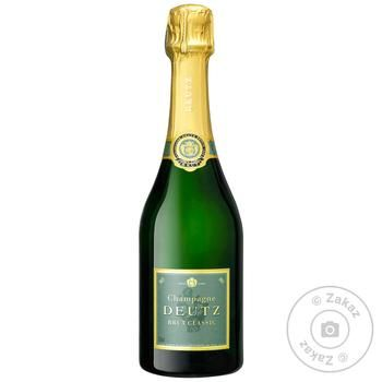Шампанське Deutz Brut Classic біле брют 12% 0,375л