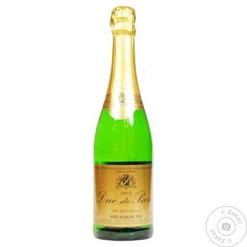 Вино ігристе Дюк де Парі 0,75 л 10,5% брют (Франція)