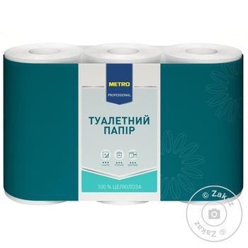 Toilet paper Metro Professional 2-ply 6 rolls white