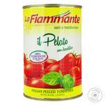 La Fiammante Whole Peeled Tomatoes with Basil 400g