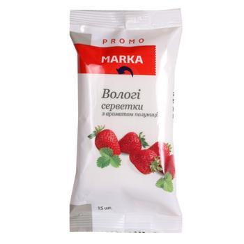 Влажные салфетки Marka Promo с ароматом клубники 15шт