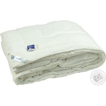 Одеяло Руно 172*205 искусственный лебединый пух - купить, цены на Ашан - фото 1