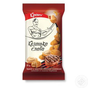 Арахис Козацька слава со вкусом барбекю в оболочке жаренный соленый 55г - купить, цены на Novus - фото 1