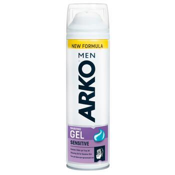 Гель Arko для чутливої шкіри для гоління 200мл - купити, ціни на Восторг - фото 1