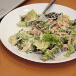 Салат с лисичками и пармезаном