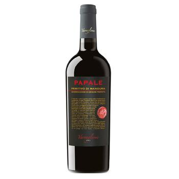 Вино Varvaglione Papale Primitivo di Manduria DOC красное полусухое 14% 0,75л