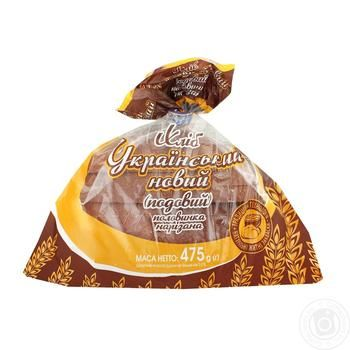 Bread Kulynychi Ukrainian rye-wheat half 450g packaged - buy, prices for Furshet - image 1